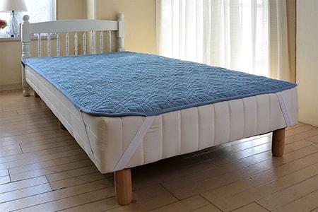 三河木綿 ふわふわ麻わた敷きパッド