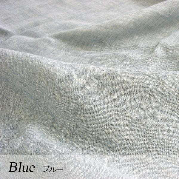 a・sarari(あさらり)リネンダブルガーゼケット 140×190cm #ブルー