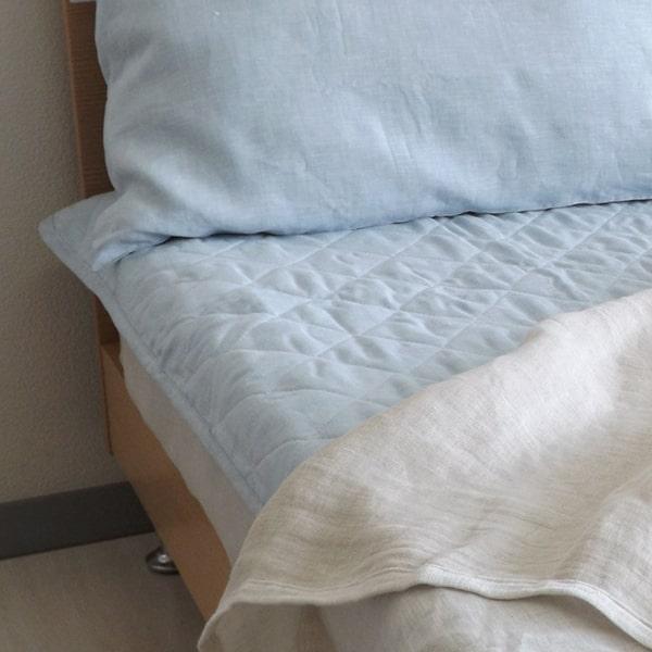 a・sarari(あさらり)リネンウォッシャブル敷きパッド シングル 100×205cm