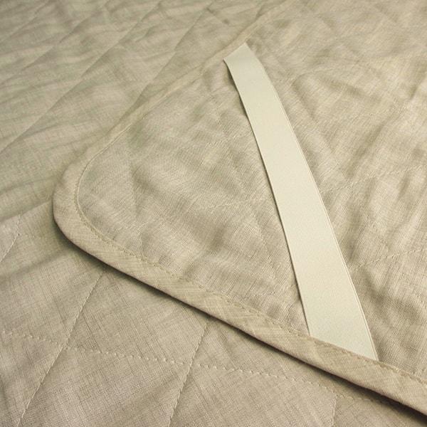 a・sarari(あさらり)リネンウォッシャブル敷きパッド キング 180×205cm