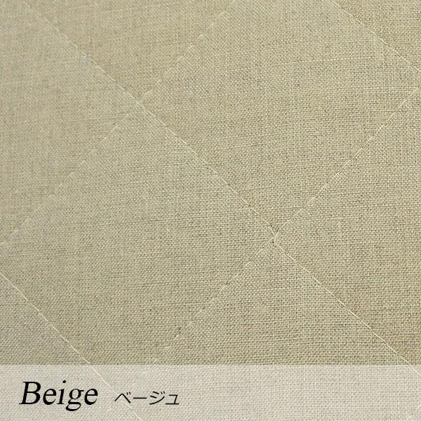 a・sarari(あさらり)リネンウォッシャブル敷きパッド ダブル 140×205cm #ベージュ